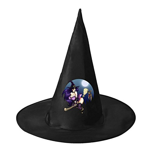 Hooters Costumes Halloween (Halloween Modern Sexy Witch Halloween Black Witch Hat For Halloween Costume Accessory Cap For Party Halloween Carnivals)