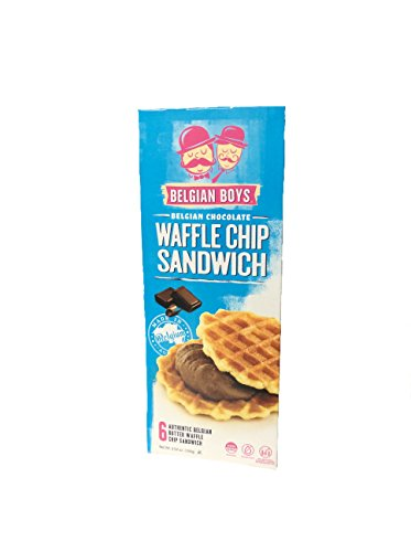 Belgian Chocolates Chips - Belgian Boys Waffle Chip Sandwich Filled With Belgian Chocolate 3.52oz box (1)