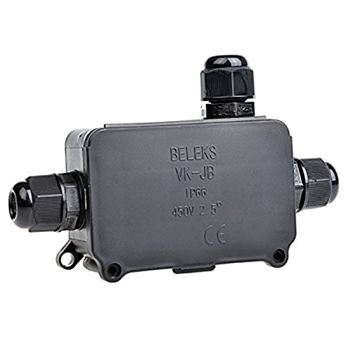 XZANTE 2pcs Boitier de jonction exterieur resistant aux intemperies IP66 Boitier de connecteur a 3 cables Manchon de cable souterrain pour cable de 4-8 mm de diametre PG9