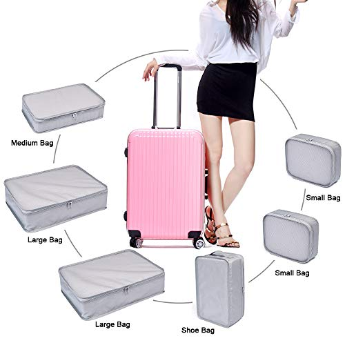 17a33b5414aa JJ POWER Travel Packing Cubes, Luggage Organizers with Shoe Bag ...