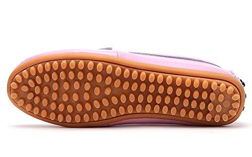 Sur Conduite De Chaussures D'été Pink Dames Glissement Loafer Les Plat Œdèmes Femmes Mocassins IqRwzz