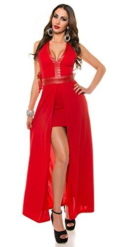 Unbekannt - Vestido - Básico - Sin mangas - para mujer Rojo