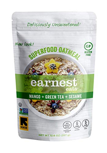 Earnest Eats Superfood Hot Cereal with Quinoa, Oats & Amaranth, Vegan, Gluten Free, Asia Blend, 12.6oz Bag, Pack of 6
