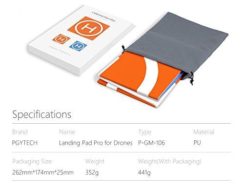 PGYTECH Drone Landing Pad, Hélicoptère Piste Pliable d'atterrissage pour DJI Mavic Mini / Mavic Pro / Mavic Air / Spark /Mavic Pro Platinum / Phantom 3 Phantom 4 Inspire 1 Quadcopter