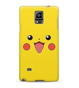 Pikachu Face Pika Pokemon Ash Kanto Hard Plastic Snap On Back Case Cover For Samsung Galaxy Note 4 Carcasa
