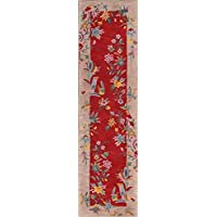 Rug Source Hand-Tufted Chinese Style Floral Oriental Rug 10 Ft Runner for Hallway