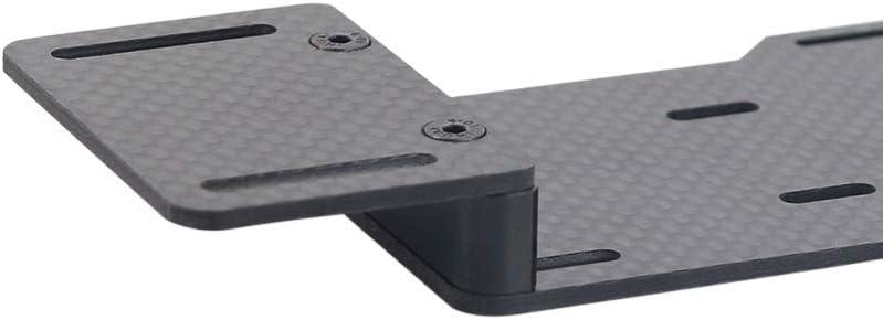 Tamkyo 1:10 RC Crawler Low Center of Gravity Soporte de Bater/íA Placa de Reubicaci/óN de Esc de Bater/íA de Metal para Axial SCX10 II Ax90046 Pieza de Coche RC