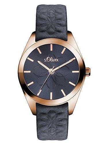 s.Oliver Damen-Armbanduhr Analog Quarz Leder SO-3081-LQ