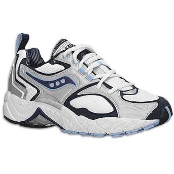 Saucony Women's Grid Stabil MC ( sz. 05.5, White/Silver/Blue )