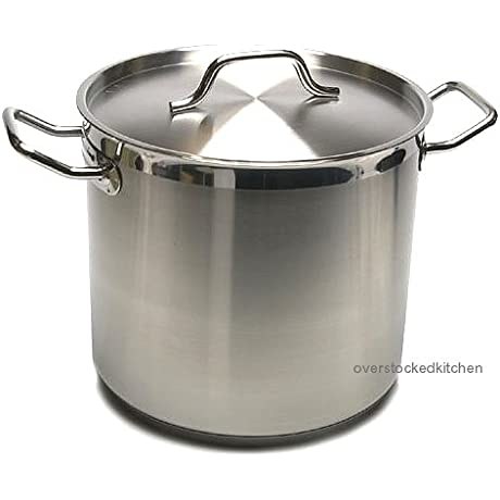 80 QT STAINLESS STEEL COMMERCIAL GRADE NSF STOCK POT W LID