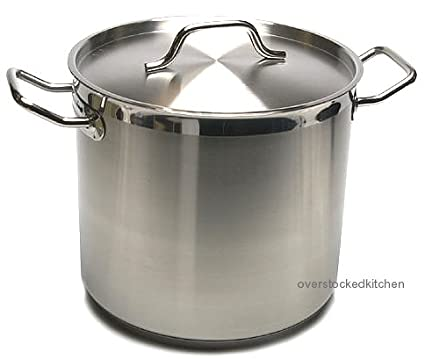 Amazoncom 20 Qt Stainless Steel Stock Pot W Lid Commercial Grade