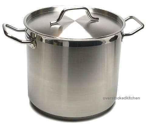 80 QT STAINLESS STEEL (COMMERCIAL GRADE NSF) STOCK POT W/ LID