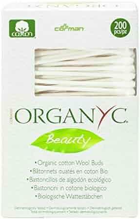 Organyc 100% Organic Cotton Swabs for Sensitive Skin, 200 Swabs