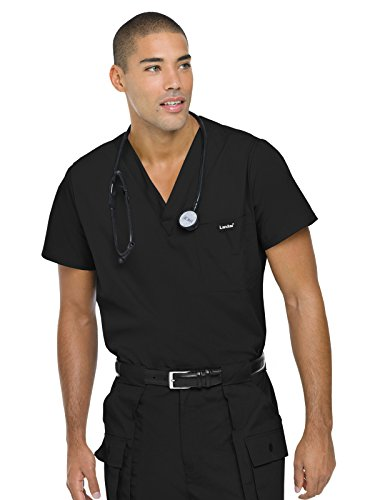 Bkp Landau (Landau Essentials Men's Vented Scrub Top Black XL)