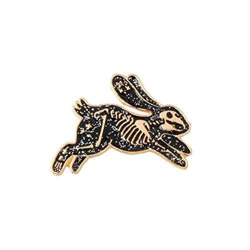 Xeminor Premium Skeleton Rabbit Enamel Pin Badges Brooches for Men Women Backpack Purse Hat Accessories