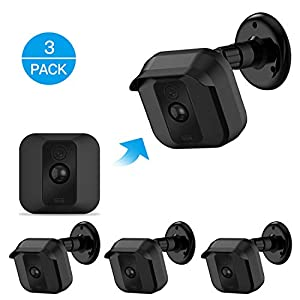 Blink XT XT2 Camera Wall Mount Bracket ,Weather Proof 360 Degree Protective Adjustable Indoor/Outdoor Mount and Cover for Blink XT XT2 Home Security Camera Anti-Sun Glare UV Protection Black(3 Pack)