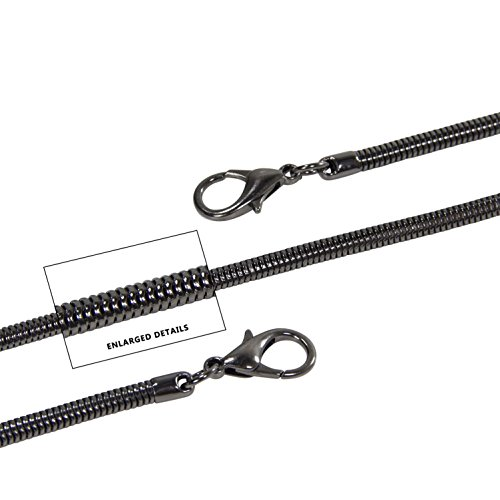 DIY Purse Black Cross Black Lulupaxton Strap Replacement 48in Snake Shoulder Handbags 122cm Chain Body Chain ECxCtPwqX