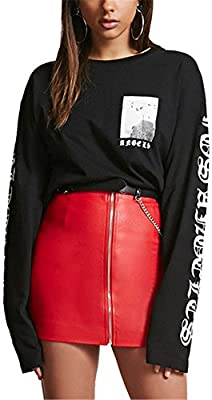 Vamvie Womens Faux Leather Skirt Slim Fit High Waist Stretch PU Pencil Skirts