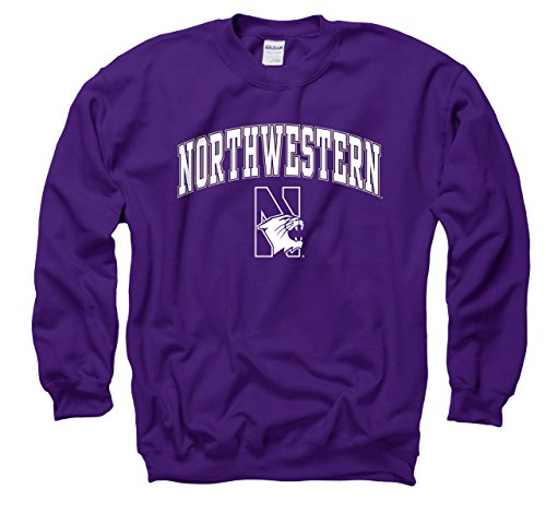 Northwestern Wildcats Adult Arch & Logo Gameday Crewneck Sweatshirt - Purple , XX-Large