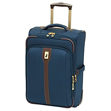London Fog Westminster 21 Inch Expandable 2-Wheel Carry-On with Suiter Compartment, Navy, One Size