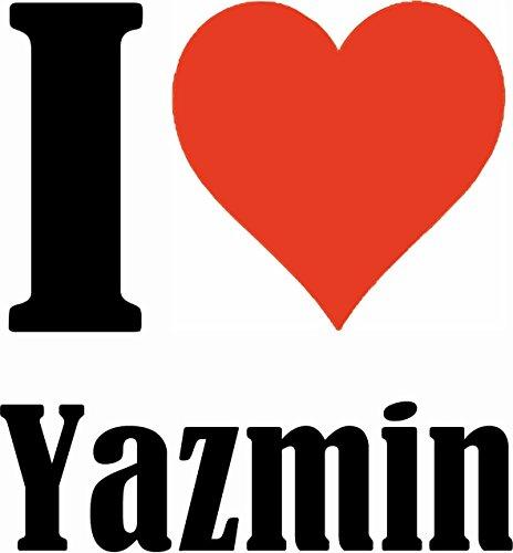 """Handyhülle iPhone 4 / 4S """"I Love Yazmin"""" Hardcase Schutzhülle Handycover Smart Cover für Apple iPhone … in Weiß … Schlank und schön, das ist unser HardCase. Das Case wird mit einem Klick auf deinem Sm"""