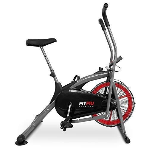 🥇 Fitfiu Fitness BELI-150 Fitfiu BELI-150-Bicicleta elíptica Resistencia por Aire con Pantalla LCD Air Bike