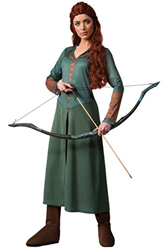 [Rubie's Costume Women's Hobbit 2 Desolation Of Smaug Adult Tauriel, Green, Small] (Arwen Costume)