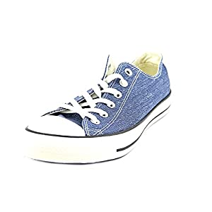 Converse Chuck Taylor All Star OX Washed Canvas Low Top Sneakers 147038F Navy 11 M US
