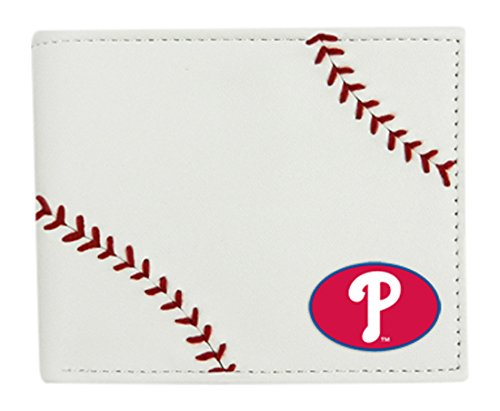 GameWear MLB Philadelphia Phillies Leather Wallet, White, N/A