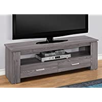 Monarch Specialties I 2603 TV Stand-48 L 2 Storage Drawers, Grey