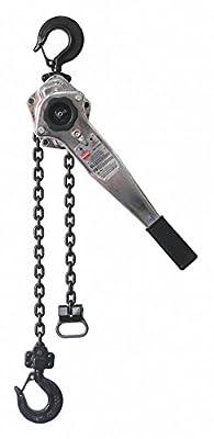 "Lever Chain Hoist, 1500 lb. Load Capacity, 10 ft. Hoist Lift, 29/32"" Hook Opening"
