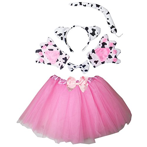 Kirei Sui Kids Cow Costume Tutu Set Pink (Pink Cow Costume)
