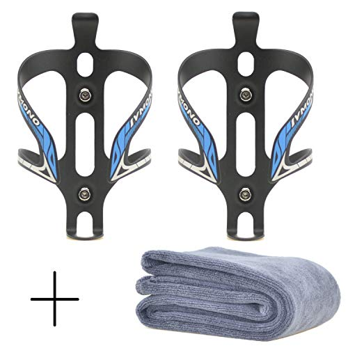 - Star Brand Bicycle Bottles Cages 2 PCS | Bike Water Bottles Cages| Bicycle Aluminum Alloy Anti Rust Water Bottle Holder Aluminum Water Side Bottle Cages for Mountain Bike (Blue, 2 Pack)