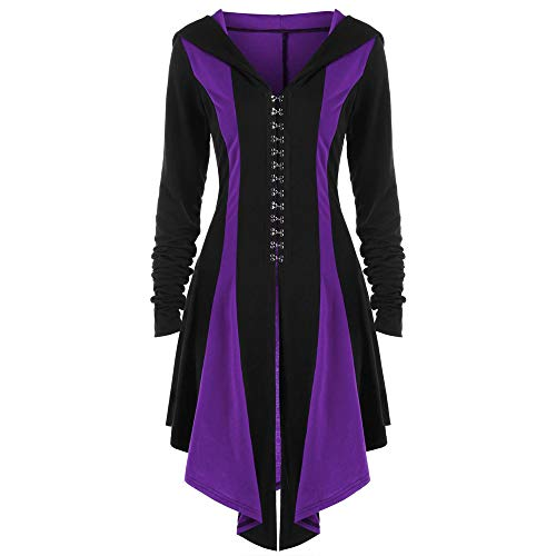 Gothic Vintage Womens Steampunk Victorian Swallow Tail Long Trench Jacket ,Kstare Overcoat Long Winter Outwear Purple