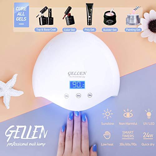 Gellen Gel Nail Starter Kit With 24W Dryer UV Light