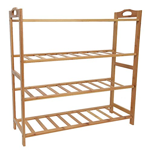 Sonmer Home 4-Tier Free Standing Bamboo Shoes Rack