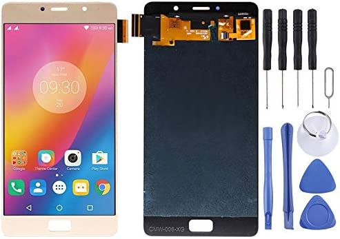 HEGUANGWEI LCD Screen and Digitizer Full Assembly for Lenovo Vibe P2 P2c72 P2a42 Black Color : Gold Cell Phone Screen LCD Accessories