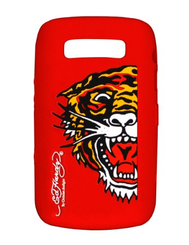 Ed Hardy Silicone Tiger Skin for BlackBerry 9700 - Red (9700 Silicone)