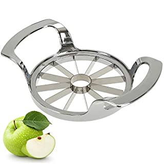 Hedume Apple Slicer, 12-Blade Extra Large Apple Corer, Stainless Steel Easy Grip Fruit Slicer with Sharp Blade for Apples, Pears, Orange and More