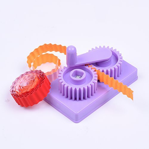 BCP Purple Hand-operated Quilling Crimper, Paper Slip Wave Shape Making Tool, Quilling Tool with Little Storage Case