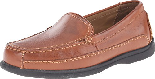 Dockers Men's Catalina Saddle Leather Loafer 11.5 EE - (Tan Casual Loafers)