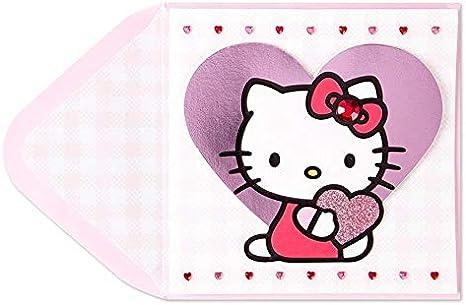 Hello Kitty Papyrus Halloween Card with Jewel Bow /& Velvet Costume Bats /& Moon