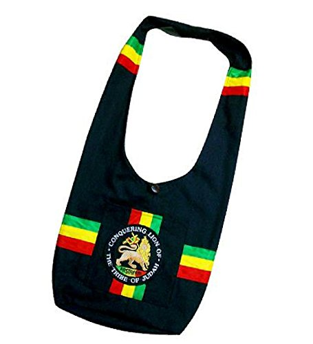 Rasta Tote Shoulder Bag Marijuana Lion of Judah Handbag Hippy Weed Bob Marley crossover bag