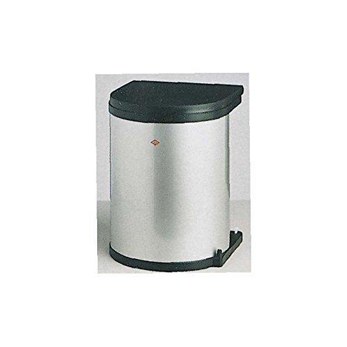 Einbau Abfallsammler Wesco SILBER 13 Liter rund ab 40 cm Schranktür ausschwenken an Drehtüren Küche Mülleimer