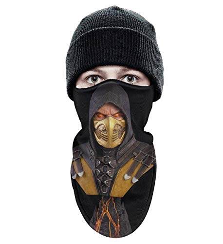 Unisex Winter Windproof Mortal-Kombat-Scorpion- Half Face Mask Sport Rave face mask -