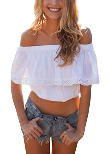 relipop-womens-short-sleeve-shirt-strapless-blouses-off-shoulder-tops-small-white