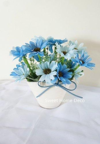 White Floral Basket - 9