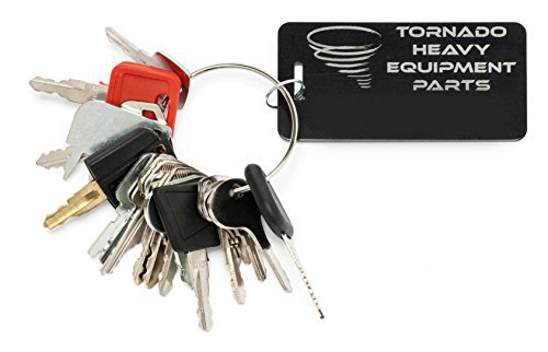 John Deere Key - Construction Equipment Master Keys Set-Ignition Key Ring for Heavy Machines, 18 Key Set