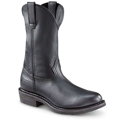 Mens Wellington Rocky (Rocky Men's Warden Wellington Duty Boot Round Toe Black 12 D(M) US)