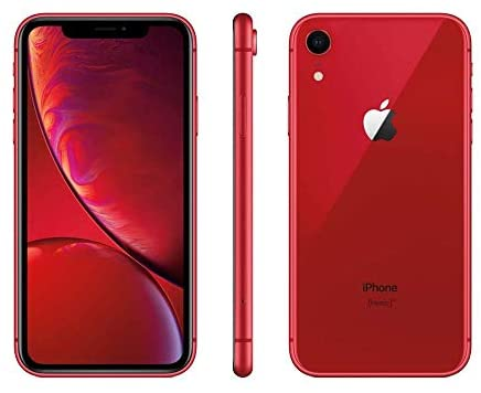 Apple iPhone XR, Boost Mobile, 128GB - Red (Renewed)